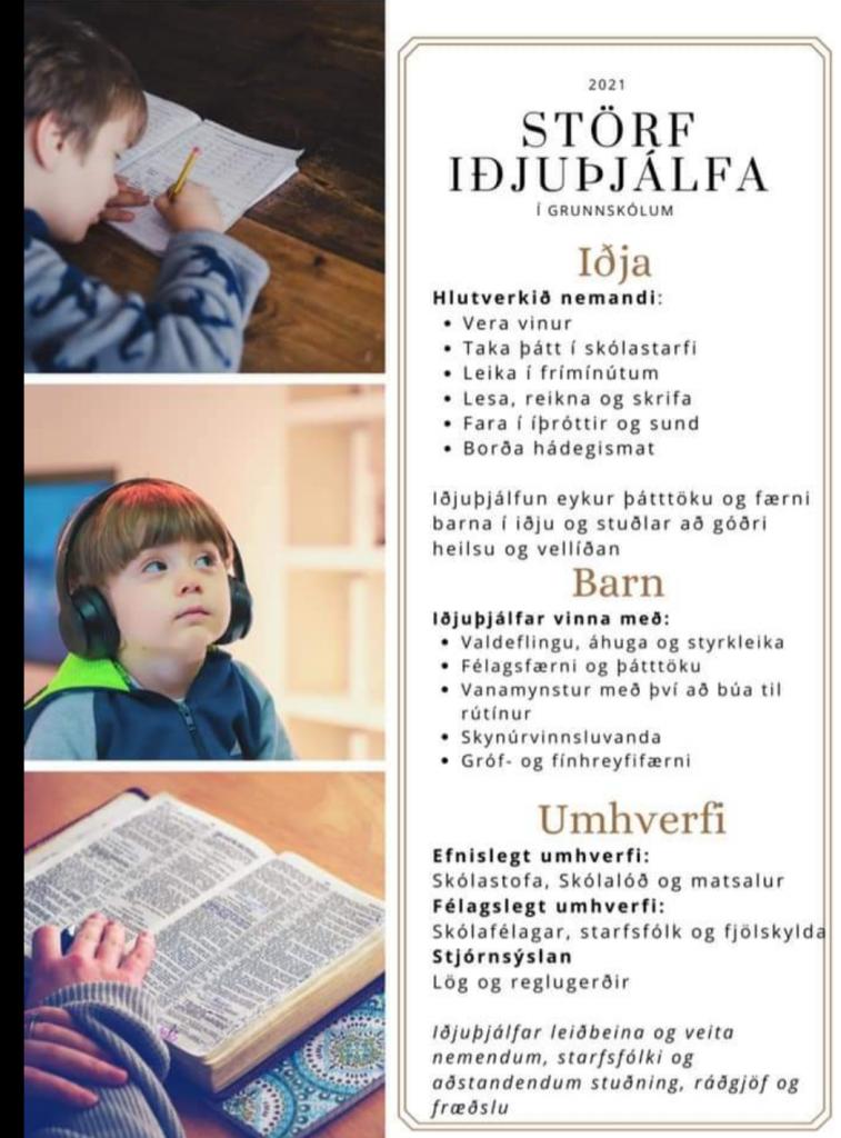 Starf iðjuþjálfa í skólum